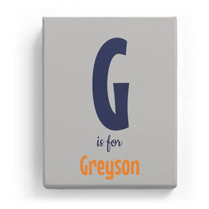 G is for Greyson - Cartoony