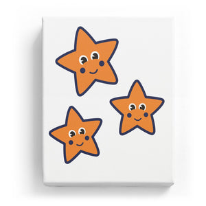 Stars with Faces - No Background