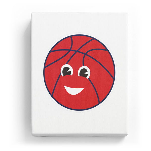 Basketball with a Face - No Background (Mirror Image)