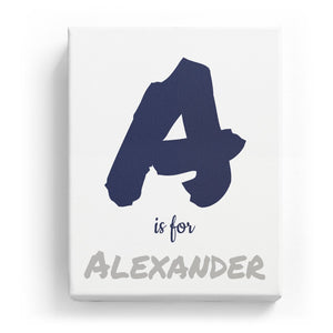 A is for Alexander - Artistic