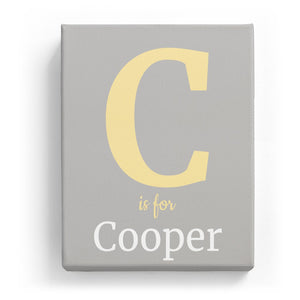 C is for Cooper - Classic