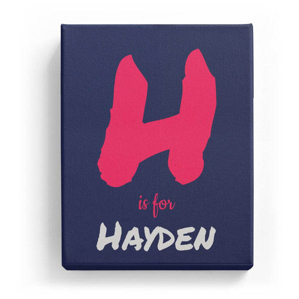 H is for Hayden - Artistic