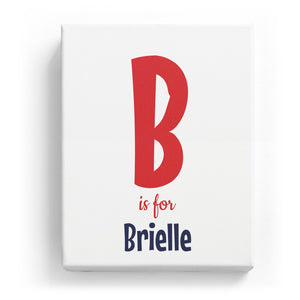 B is for Brielle - Cartoony
