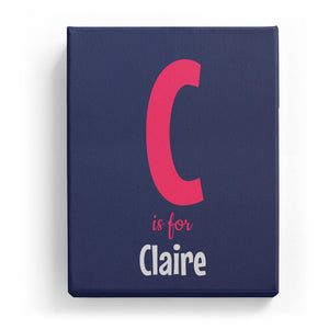 C is for Claire - Cartoony