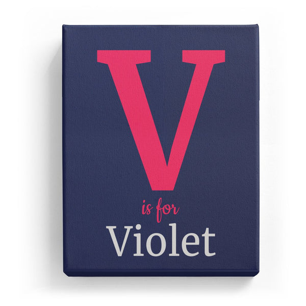 V is for Violet - Classic