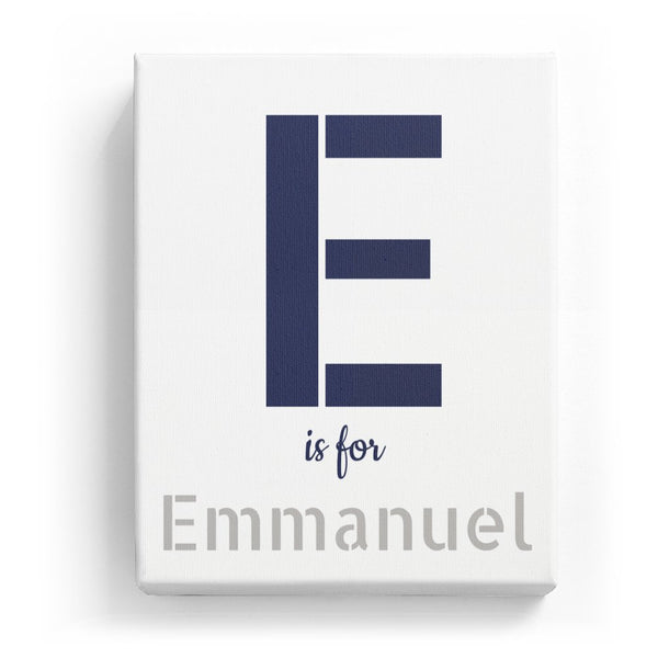 E is for Emmanuel - Stylistic