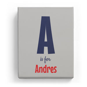 A is for Andres - Cartoony