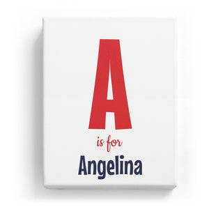 A is for Angelina - Cartoony