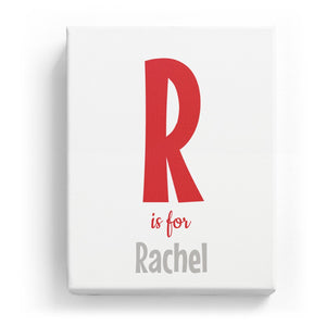 R is for Rachel - Cartoony