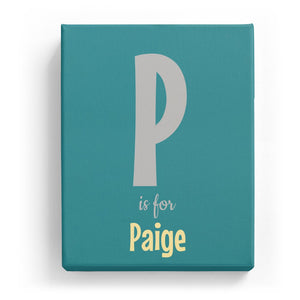 P is for Paige - Cartoony