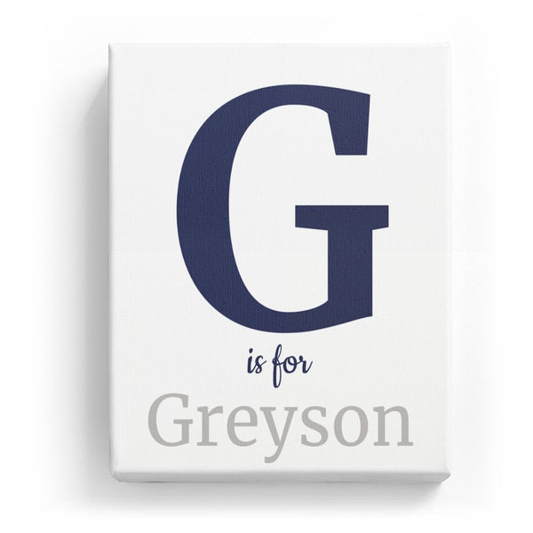 G is for Greyson - Classic