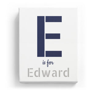 E is for Edward - Stylistic
