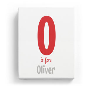 O is for Oliver - Cartoony