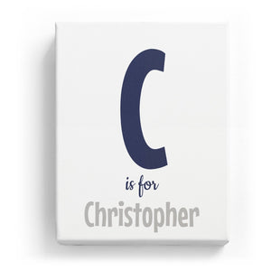 C is for Christopher - Cartoony