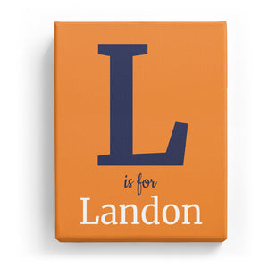 L is for Landon - Classic