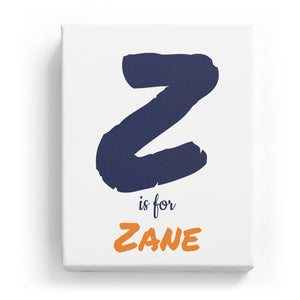 Z is for Zane - Artistic