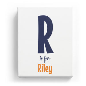R is for Riley - Cartoony