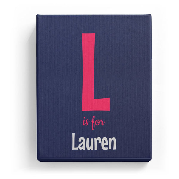 L is for Lauren - Cartoony
