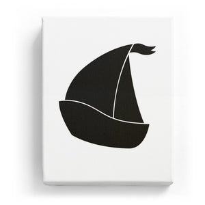 Sailboat - No Background (Mirror Image)