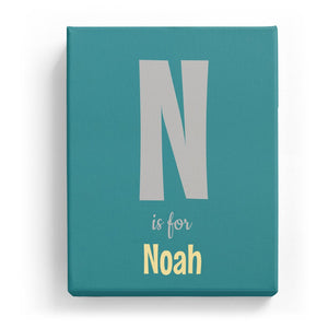 N is for Noah - Cartoony