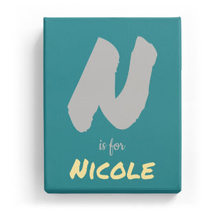 N is for Nicole - Artistic