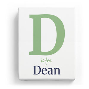 D is for Dean - Classic