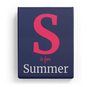 S is for Summer - Classic