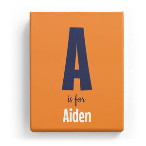 A is for Aiden - Cartoony
