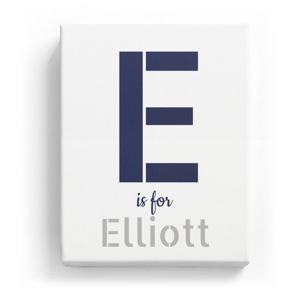 E is for Elliott - Stylistic