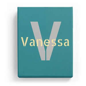 Vanessa Overlaid on V - Stylistic