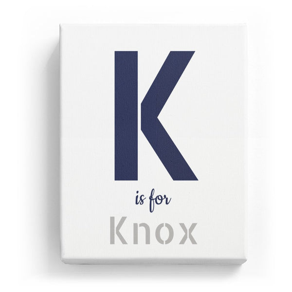 K is for Knox - Stylistic