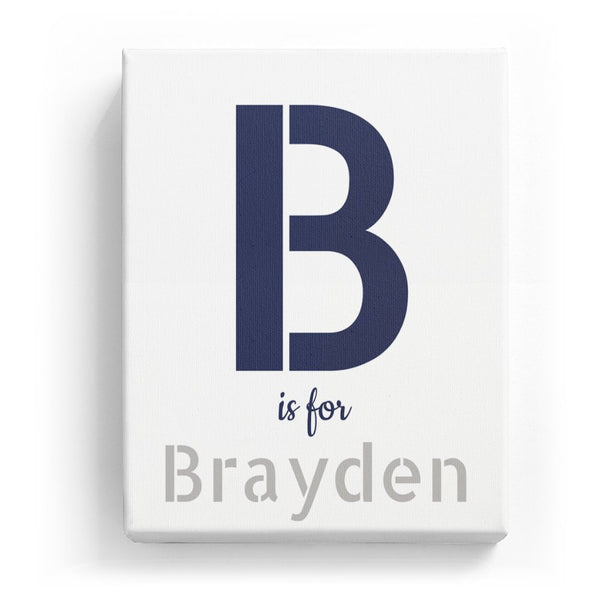 B is for Brayden - Stylistic