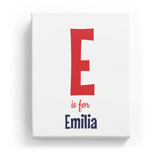 E is for Emilia - Cartoony