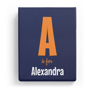 A is for Alexandra - Cartoony