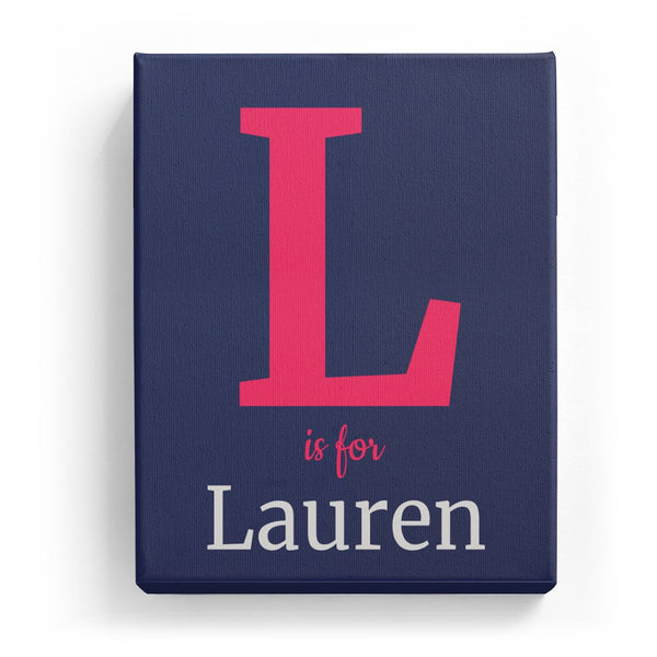 L is for Lauren - Classic