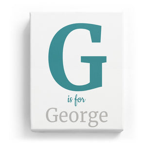G is for George - Classic