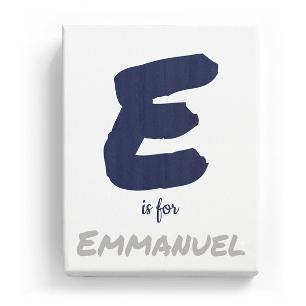 E is for Emmanuel - Artistic