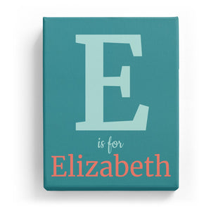 E is for Elizabeth - Classic