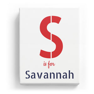 S is for Savannah - Stylistic