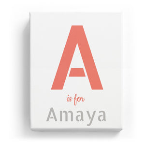 A is for Amaya - Stylistic