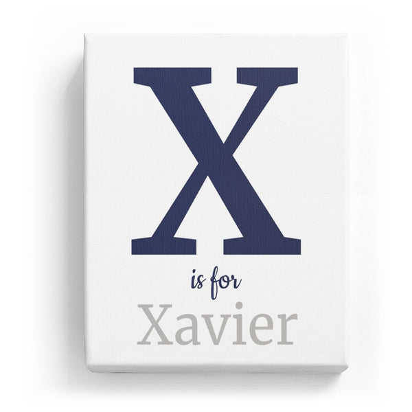 X is for Xavier - Classic