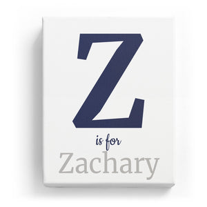 Z is for Zachary - Classic