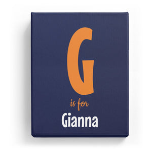G is for Gianna - Cartoony