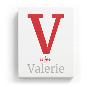 V is for Valerie - Classic