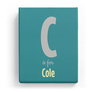 C is for Cole - Cartoony