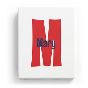 Mary Overlaid on M - Cartoony