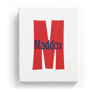 Maddox Overlaid on M - Cartoony
