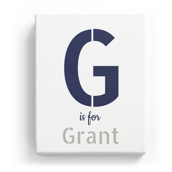 G is for Grant - Stylistic