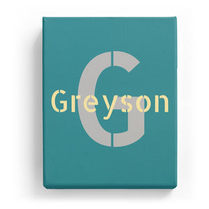 Greyson Overlaid on G - Stylistic