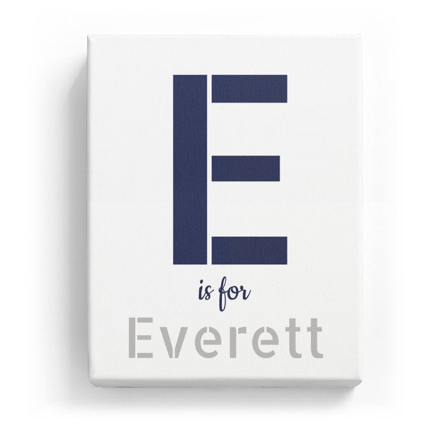 E is for Everett - Stylistic